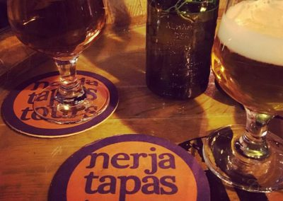 Chilled beer and tapas