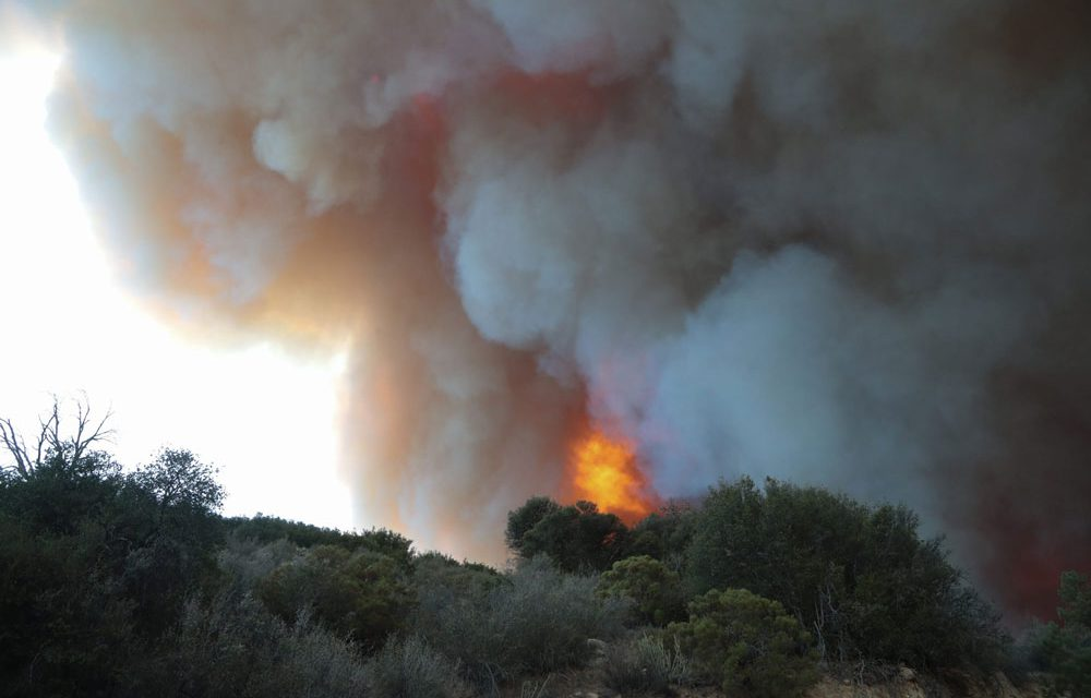 Country fires in Nerja and Mijas