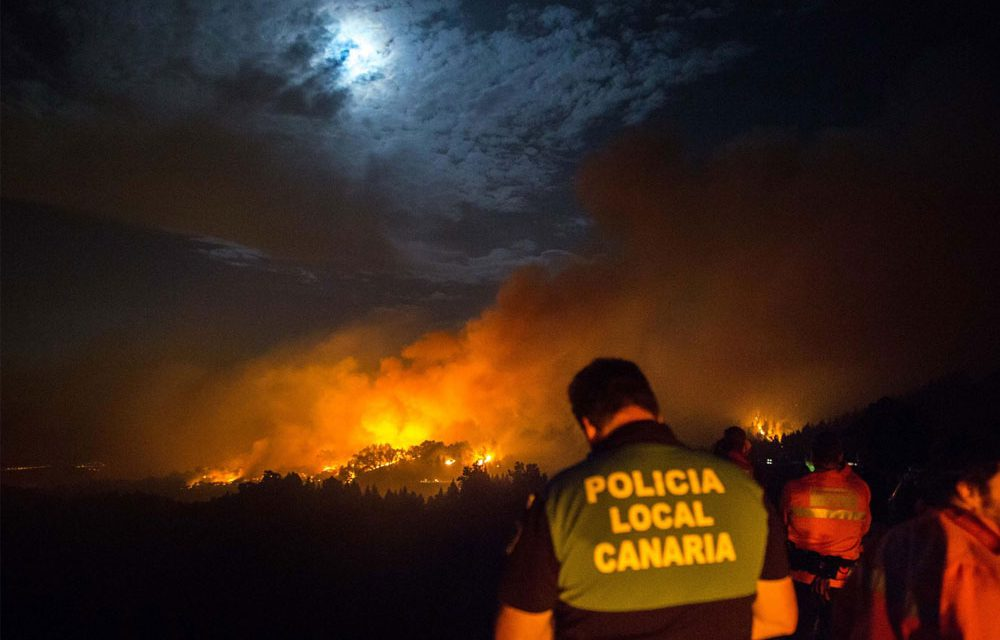 Gran Canaria suffers huge forest fire